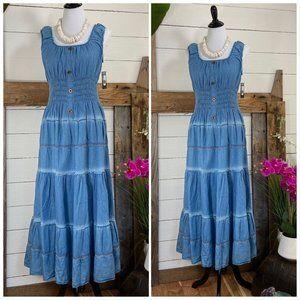 NWT Lapis Blue Denim Look Summer Dress